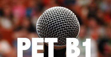 speaking b1 pet cambridge