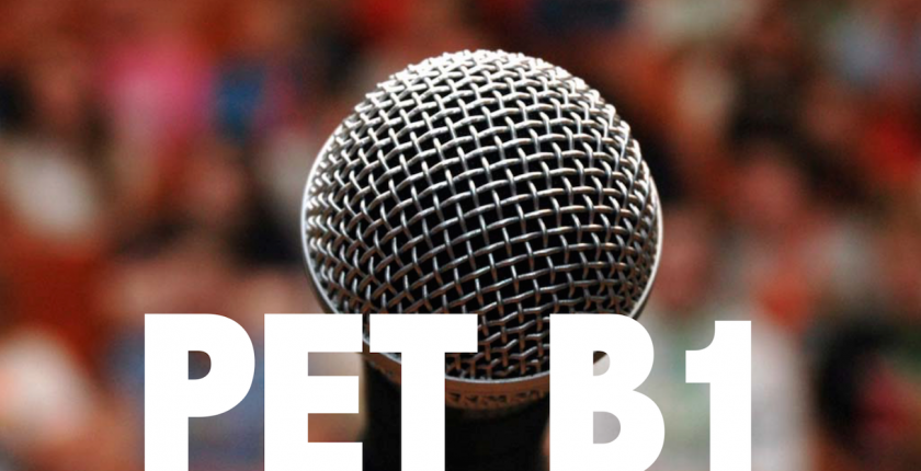 speaking b1 pet cambridge