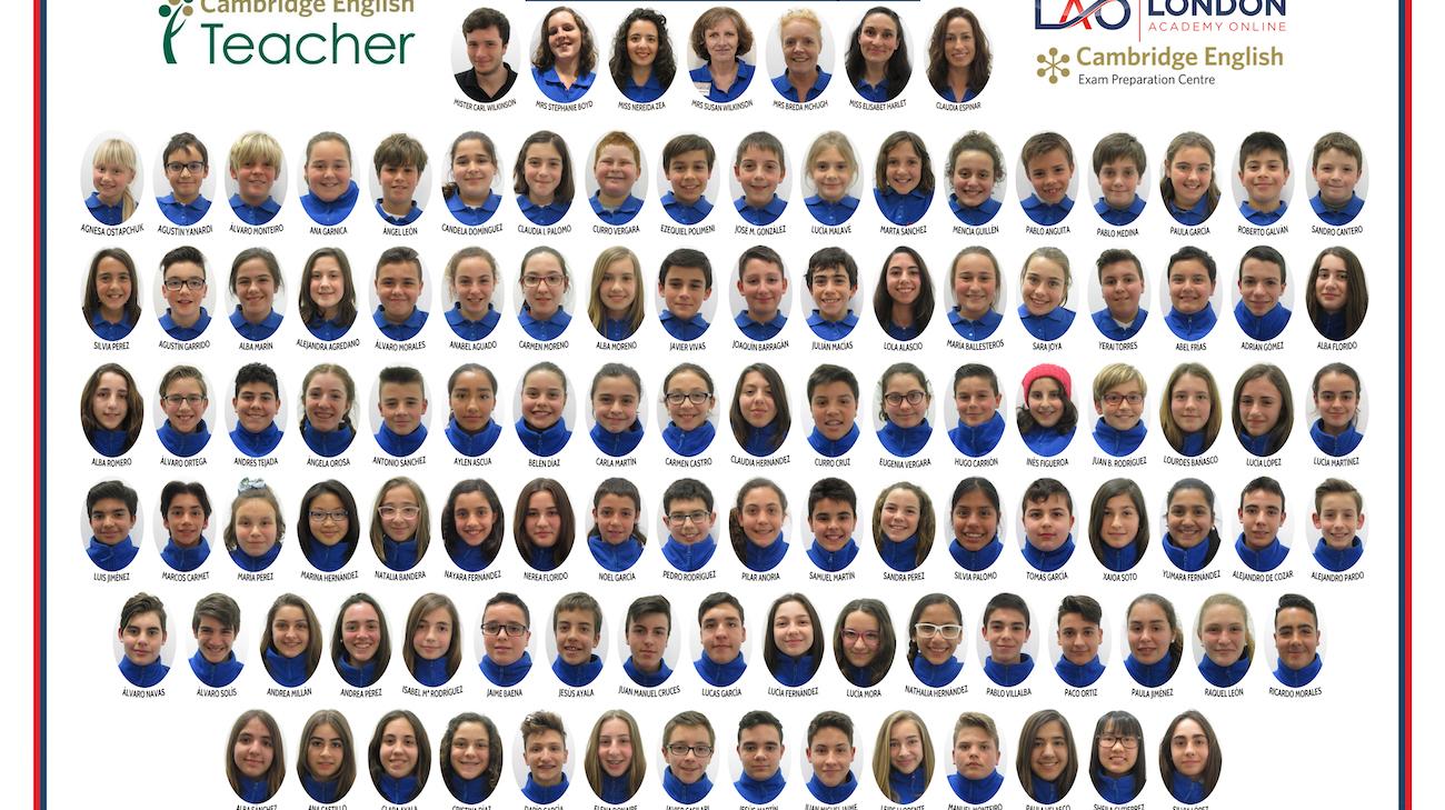 Alumnos Inglés Infantil Churriana 2016